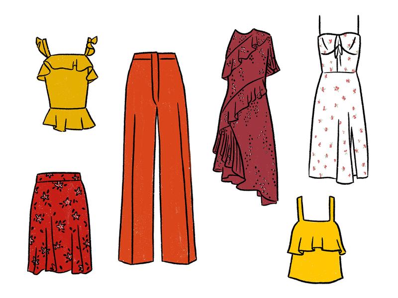 Colors of Winter — Wardrobe 2020 closet wardrobe clothing fashion illustration procreate drawing digital illustration