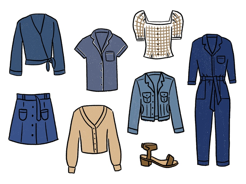 Neutrals of Winter — Wardrobe 2020 fashion illustration clothing wardrobe closet fashion drawing procreate illustration digital illustration