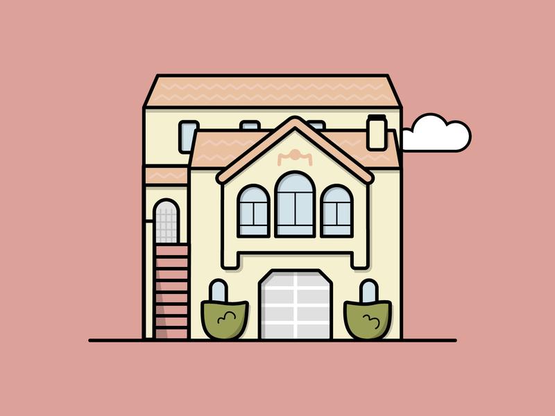Pastel House — Home Series flat illustration illustrator architecture illustration vector san francisco home house