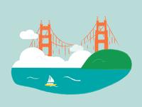 Golden Gate Bridge — Horizontal Journey Series