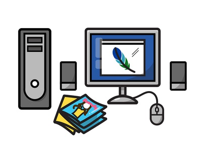 Tween — About Studio Sophy tween magazines desktop computer icon vector illustration