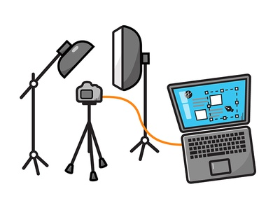 College Part 2 — About Studio Sophy website building laptop beauty dish softbox studio photography photography camera icon vector illustration