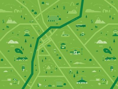 San Luis Obispo Map pattern roads san luis obispo map green illustration