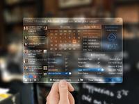 Glasspad dashboard concept full
