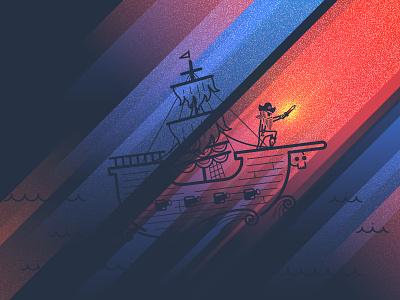 Design Pirate v2 wangmander design pirate ship light glow waters stroke eyedropper cannon waves gradient