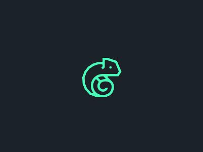 Chameleon logo/mark chameleon mark lizard logo wangmander