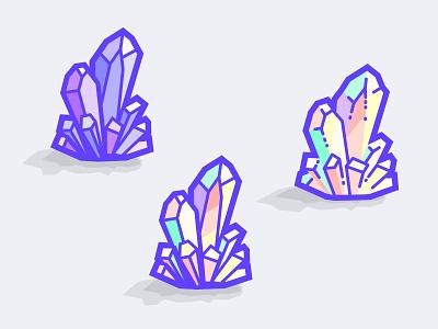 Quartz Material wangmander purple colorful resources icons crystal vector material quartz