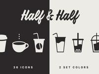 Half & Half coffee set