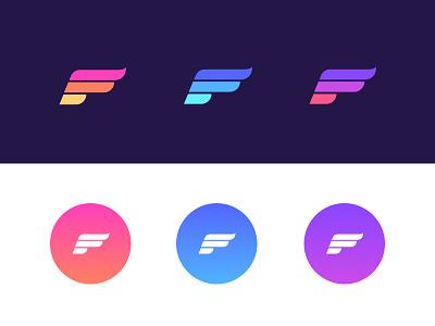 Pegasus Mark gradient logo brand wing mark pegasus