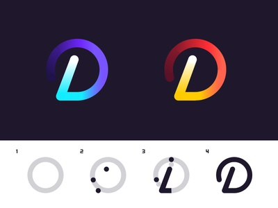 D Process type brand mark logo process d