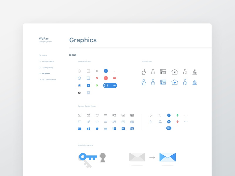 Design System: Graphics ui style gudie graphics icons design system