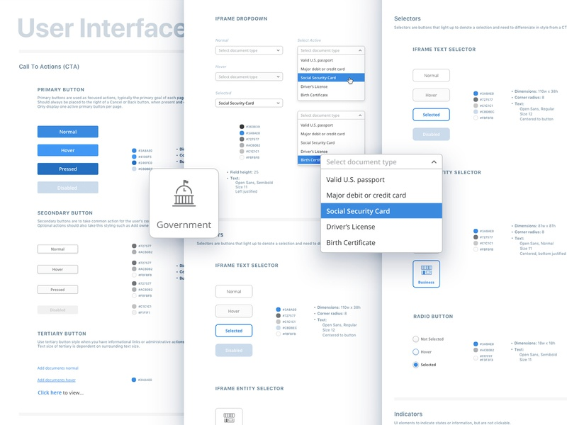 Design System: Components buttons colors styleguide brand guidelines design system ui components ui