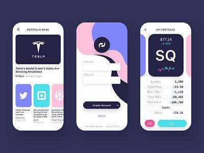 BB Stock App stocks uiux mobile dashboard app ui wangmander