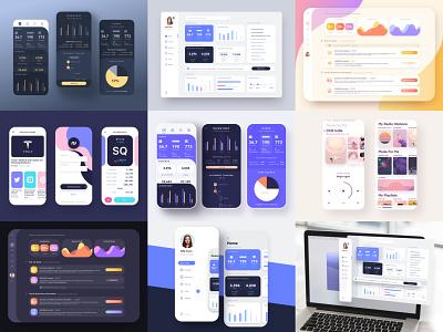 Top 9 2019 analytics purple mobile ios dashboard icons app wangmander ui