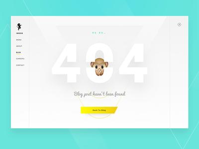 INKOD's Blog 404 website ux ui 404 post interface design creative blog agency