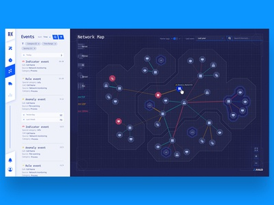Halo Analytics devices analytic map ui connection dashboard data product ux ui design