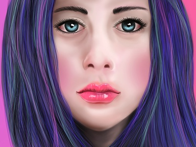 Hey, everyone <3 drawing graphic tablet wacom purple girl cute illustration