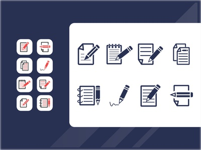 Write a Note Icon Set
