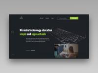 Technology Courses Site - Landing Page Design