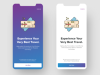 Travel App Welcome Screen Concept