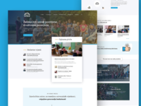 Homepage for nonprofit organisation