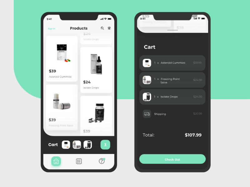 Shopping App product ux ui cart checkout e-commerce shopping app