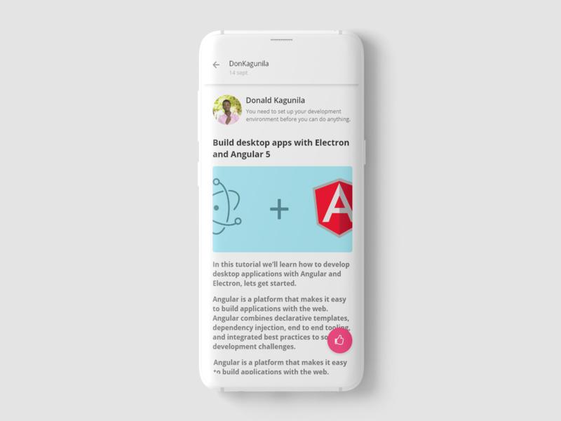 Kituo, Article reading app elegant simple blog clean design web ux ui illustration article web development web desgin