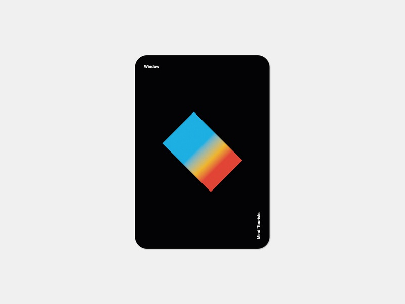 Mind Tourists Cards Window gradient illustration typography design geometric bauhaus shape minimalistic minimalism minimal minal poster playing cards portfolio branding vector flat music