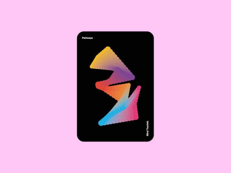Mind Tourists Cards Pathways gradient illustration typography design geometric bauhaus shape minimalistic minimalism minimal minal poster playing cards portfolio branding vector flat music