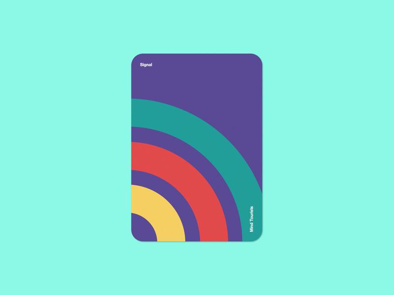 Mind Tourists Cards Signal print illustration typography design geometric bauhaus shape minimalistic minimalism minimal minal poster playing cards portfolio branding vector flat music