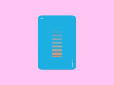 Mind Tourists Cards Fade simple illustration typography design geometric bauhaus shape minimalistic minimalism minimal minal poster playing cards portfolio branding vector flat music