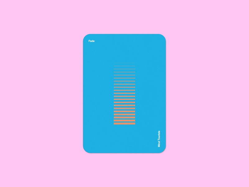 Mind Tourists Cards Fade simple illustration typography design geometric bauhaus shape minimalistic minimalism minimal minal poster playing cards portfolio branding vector flat music