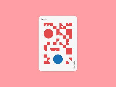 Mind Tourists Cards Opposites art illustration typography design geometric bauhaus shape minimalistic minimalism minimal minal poster playing cards portfolio branding vector flat music