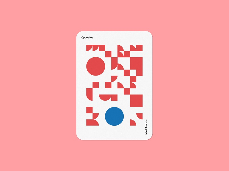 Mind Tourists Cards Opposites art illustration typography design geometric bauhaus shape minimalistic minimalism minimal minal poster playing cards portfolio branding vector flat music