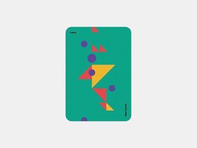 Mind Tourists Cards Layers simple illustration typography design geometric bauhaus shape minimalistic minimalism minimal minal poster playing cards portfolio branding vector flat music