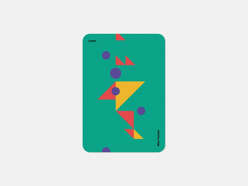 Mind Tourists Cards Layers simple illustration typography design geometric bauhaus shape minimalistic minimalism minimal minal poster playing cards portfolio branding vector flat music