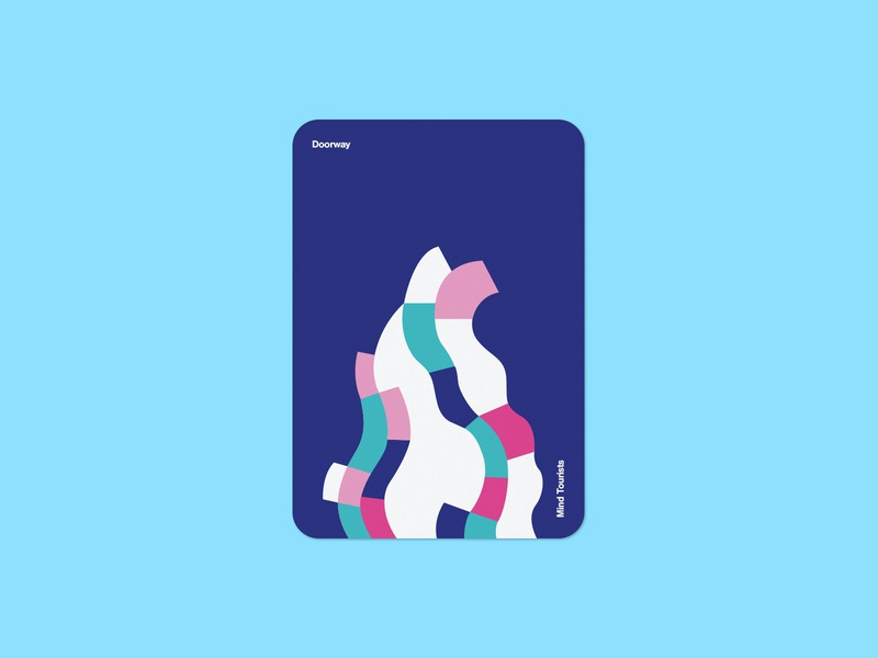 Mind Tourists Cards Doorway wave illustration typography design geometric bauhaus shape minimalistic minimalism minimal minal poster playing cards portfolio branding vector flat music