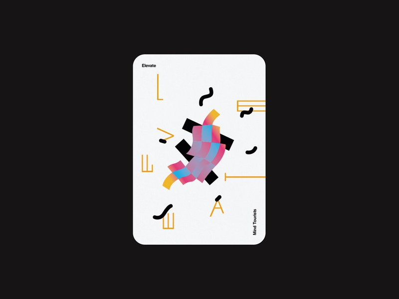 Mind Tourists Cards Elevate gradient illustration typography design geometric bauhaus shape minimalistic minimalism minimal minal poster playing cards portfolio branding vector flat music