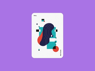 Mind Tourists Cards Being organic illustration typography design geometric bauhaus shape minimalistic minimalism minimal minal poster playing cards portfolio branding vector flat music
