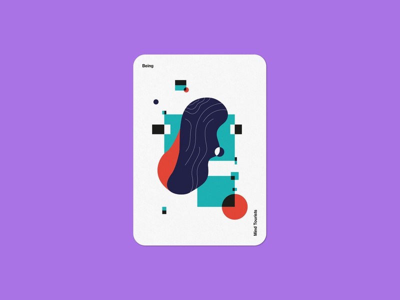Mind Tourists Cards Being organic illustration typography design geometric bauhaus shape minimalistic minimalism minimal minal poster playing cards portfolio branding vector flat music