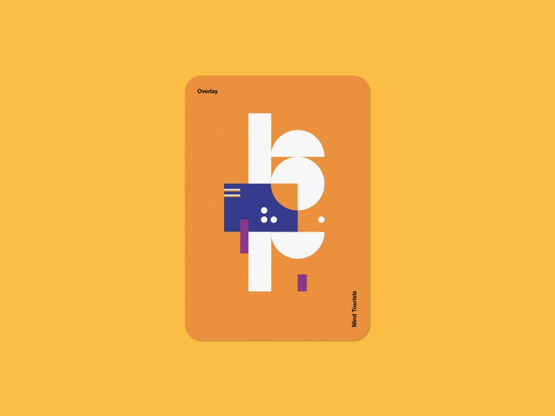 Mind Tourists Cards Overlay simple illustration typography design geometric bauhaus shape minimalistic minimalism minimal minal poster playing cards portfolio branding vector flat music