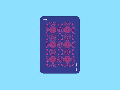 Mind Tourists Cards Repeat pattern illustration typography design geometric bauhaus shape minimalistic minimalism minimal minal poster playing cards portfolio branding vector flat music