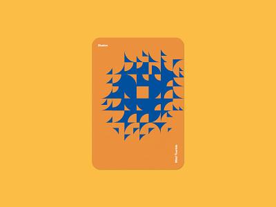 Mind Tourists Cards Illusion pattern illustration typography design geometric bauhaus shape minimalistic minimalism minimal minal poster playing cards portfolio branding vector flat music