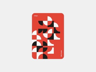 Mind Tourists Cards Intrigue simple illustration typography design geometric bauhaus shape minimalistic minimalism minimal minal poster playing cards portfolio branding vector flat music