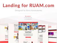 Landing for RUAM.com