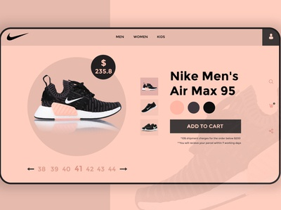 Nike Shoes Product Landing Page