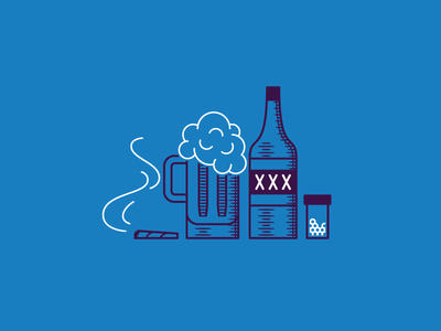 Drugs Are Bad Mkay! drugs alcohol xxx beer illustration creative south