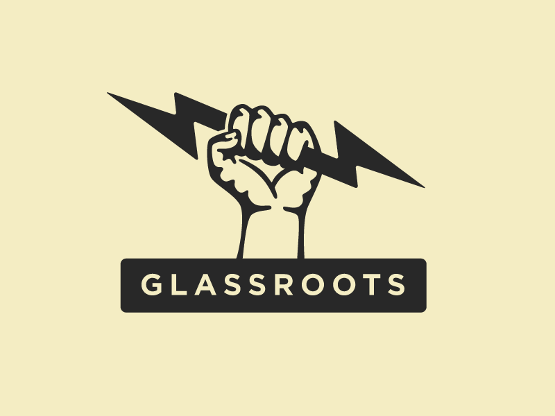 Glassroots glassroots mark logo fist thunderbolt native