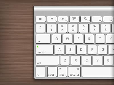 Apple Wireless Keyboard Left side vector illustrator illustration