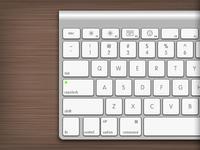 Apple Wireless Keyboard Left side